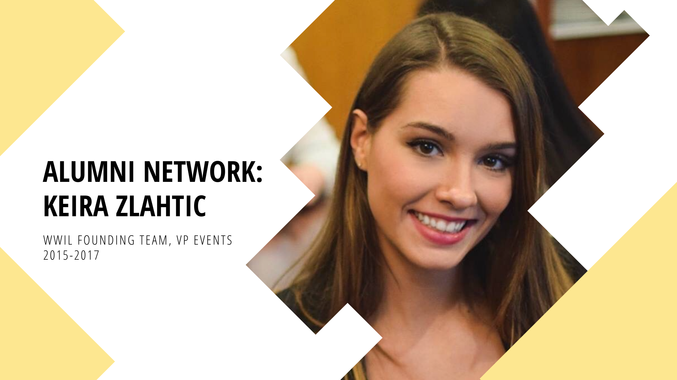 Alumni Network: Founding Team Keira Zlahtic